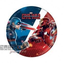 8 Piatti Tondi Carta Avengers 20 cm