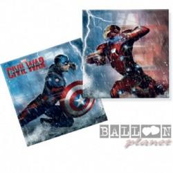 20 Tovaglioli Carta Avengers 33x33 cm