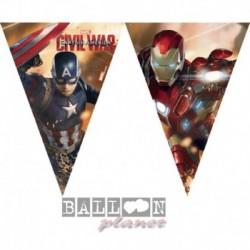 Festone Bandierine Avengers 200 cm