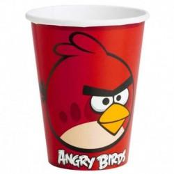 8 Bicchieri Carta Angry Bird 266 ml
