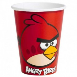 8 Bicchieri Carta Angry Bird 266 ml