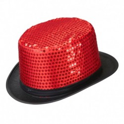 Cilindro Paillettes Rosso