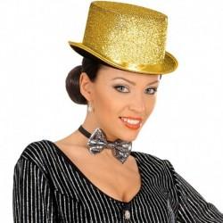 Cappello Cilindro Feltro Lurex Oro