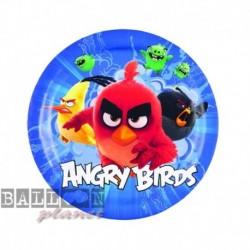 8 Piatti Tondi Carta Angry Bird 18 cm