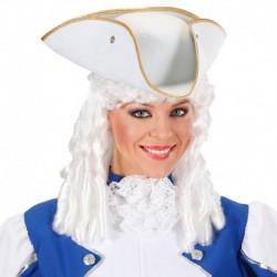 Cappello Corsaro Tricorno Bianco