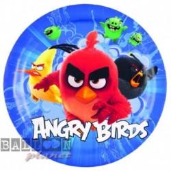 8 Piatti Tondi Carta Angry Bird 23 cm