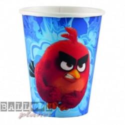 8 Bicchieri Carta Angry Birds 266 ml