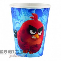8 Bicchieri Carta Angry Birds 266 ml