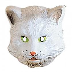 Maschera Plastica Gatto Bianco