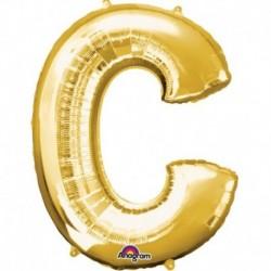 Pallone Lettera C Oro 90 cm