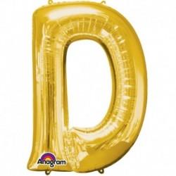 Pallone Lettera D Oro 90 cm