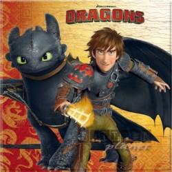 20 Tovaglioli Carta Dragon 33x33 cm