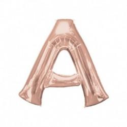 Lettera A Rosa Gold 40 cm