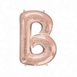 Pallone Lettera B Rosa Gold 40 cm