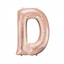 Lettera D Rosa Gold 40 cm