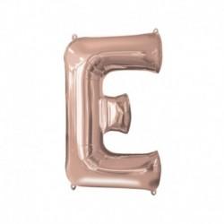 Pallone Lettera E Rosa Gold 40 cm