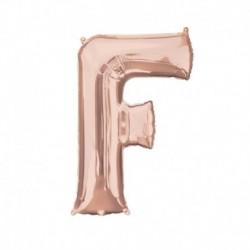 Lettera F Rosa Gold 40 cm