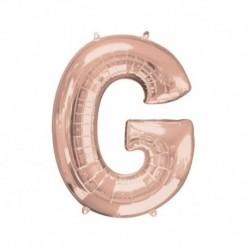 Lettera G Rosa Gold 40 cm