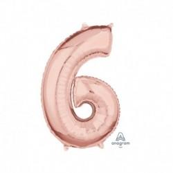 Pallone Numero 6 Rosa Gold 40 cm