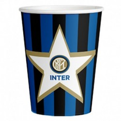 8 Bicchieri Carta Inter 266 ml