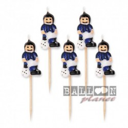 5 Candeline Calciatori Inter 8 cm