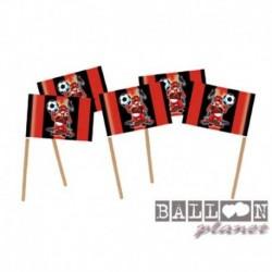20 Pick Bandierine Milan 7 cm