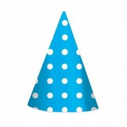 6 Cappellini Pois Azzurri