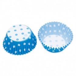 48 Pirottini Azzurri Pois 5x3 cm