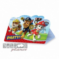 8 Inviti e Buste Paw Patrol