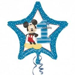 Pallone Mickey 1st Birthday 45 cm