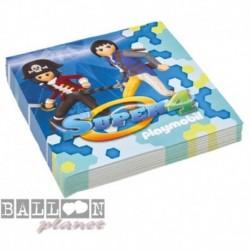 20 Tovaglioli Carta Playmobil 33x33 cm