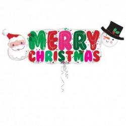 Pallone Merry Christmas 105 cm