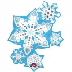Pallone Snowflake 85 cm