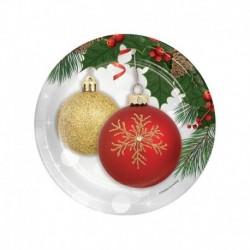 8 Piatti Tondi Carta Ornament 18 cm
