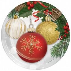 8 Piatti Tondi Carta Ornaments 23 cm