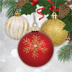 16 Tovaglioli Carta Ornament 33x33 cm