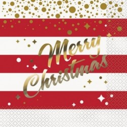 16 Tovaglioli Carta Christmas 33x33 cm