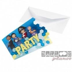 8 Inviti e Buste Playmobil