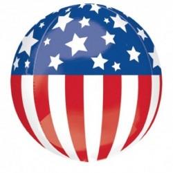 Pallone Bubble Bandiera Americana 50 cm