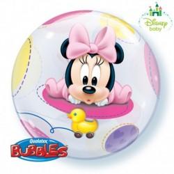 Pallone Bubble Baby Minnie 55 cm