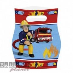8 Loot Bags Sam il Pompiere