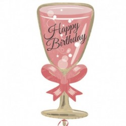 Pallone Birthday Glass 70 cm
