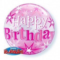 Pallone Bubble Happy Birthday 55 cm