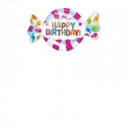 Pallone Caramella Happy Birthday