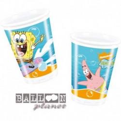 10 Bicchieri Plastica 200 cc