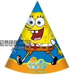 6 Cappellini Carta Spongebob 12x16 cm