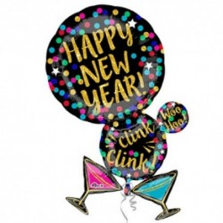 Pallone Happy New Year 80 cm