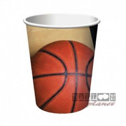 8 Bicchieri Carta Basket 266 ml