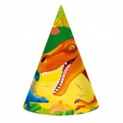 6 Cappellini Carta Dinosauri 12x16 cm