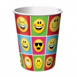 8 Bicchieri Carta Emoji 266 ml